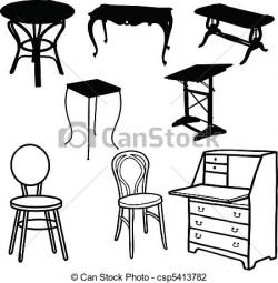 Furniture clipart line art