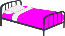 Furniture clipart made bed