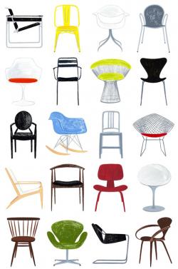 Furniture clipart mid century modern
