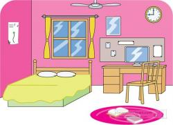 Furniture clipart pink bedroom