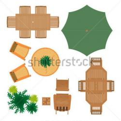 Furniture clipart plan view