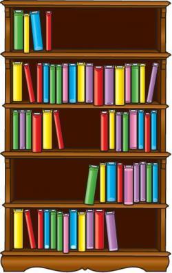 Bookcase clipart children's library
