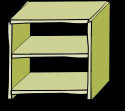 Bookcase clipart empty closet