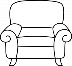 Lounge clipart black and white