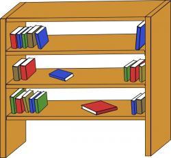 Bookcase clipart vector