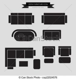 Furniture clipart top view