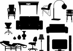 Furniture clipart vector art