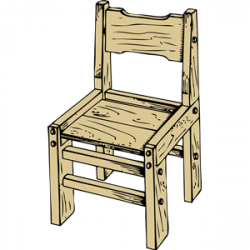 Furniture clipart wooden chair