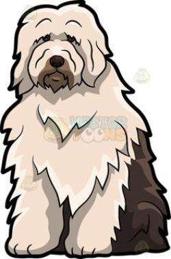 Old English Sheepdog clipart lion