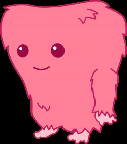 Monster clipart cute fuzzy cartoon
