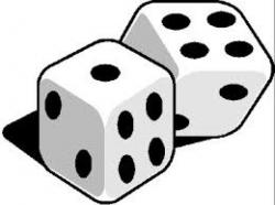 Dice clipart cute
