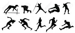 Jump clipart track and field event