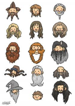 Drawn dwarf the hobbit character