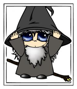 Gandalf clipart cute