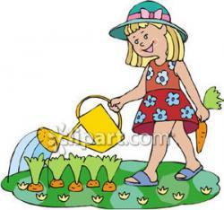 Little Girl clipart gardening