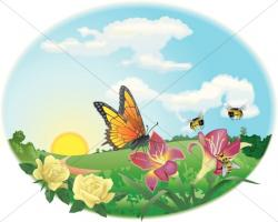 Pollination clipart spring time
