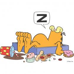 Garfield clipart binge eating