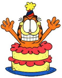 Garfield clipart birthday