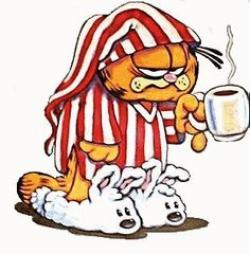 Garfield clipart guten tag