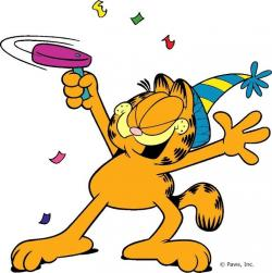 Garfield clipart party