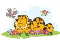 Garfield clipart spring