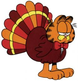 Garfield clipart turkey