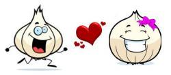 Garlic clipart happy