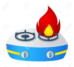 Fireplace clipart stove fire
