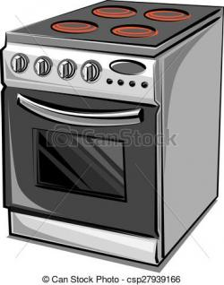 Gas Cooker clipart electric stove