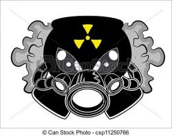 Gas Mask clipart abstract