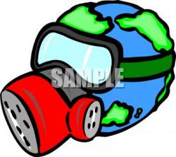 Planet Earth clipart pollution