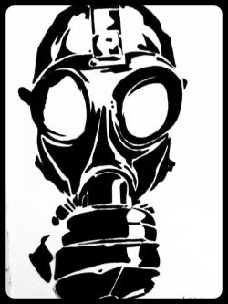 Gas Mask clipart dark