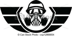 Gas Mask clipart logo