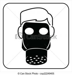 Gas Mask clipart safety mask