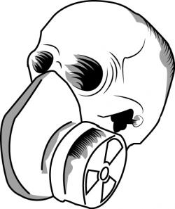 Gas Mask clipart skull head