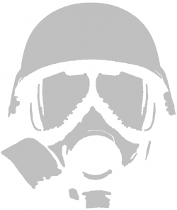 Gas Mask clipart spray paint stencil
