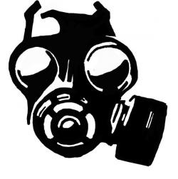 Gas Mask clipart tribal