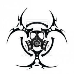 Biohazard clipart tribal
