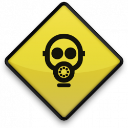 Gas Mask clipart yellow