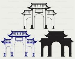 Chinese clipart arch