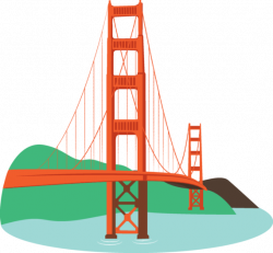 Golden Gate clipart cartoon