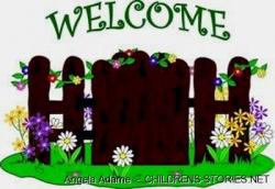 Gate clipart child garden
