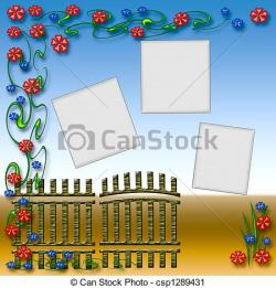 Gate clipart colorful