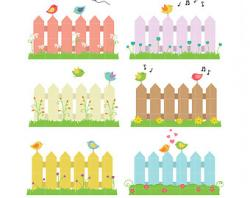 Ranch clipart garden fence