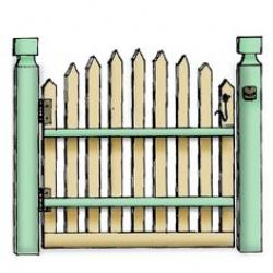 Gate clipart cute
