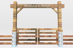Ranch clipart wooden gate