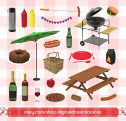 Picnic clipart birthday bbq