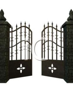 Gate clipart fancy