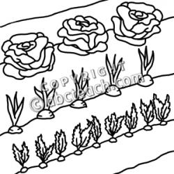 Monochrome clipart garden