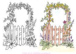 Gate clipart garden background